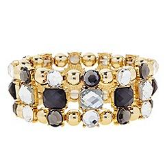 Principles by Ben de Lisi - Designer grey mixed stone bracelet