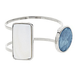 Principles by Ben de Lisi - Designer mixed shape open cuff bracelet