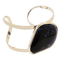 Principles by Ben de Lisi - Designer Black marble effect stone open cuff