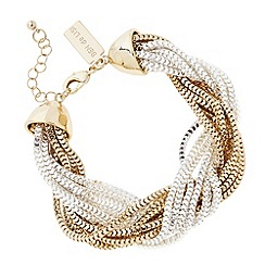 Principles by Ben de Lisi - Designer two tone twisted chain bracelet
