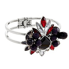 Principles by Ben de Lisi - Designer multi stone and bead cluster cuff bracelet
