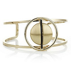 Principles by Ben de Lisi - Designer gold double circle bangle