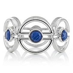 Principles by Ben de Lisi - Designer blue stone half circle stretch bracelet