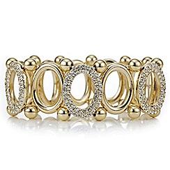 Principles by Ben de Lisi - Designer oval link crystal bracelet
