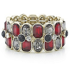 Principles by Ben de Lisi - Designer red and grey crystal bracelet