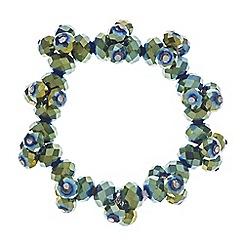Principles by Ben de Lisi - Designer green cluster bead stretch bracelet