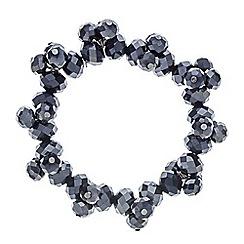 Principles by Ben de Lisi - Designer blue cluster bead stretch bracelet