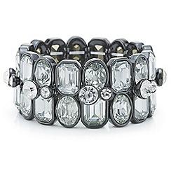 Principles by Ben de Lisi - Designer grey tonal crystal bracelet