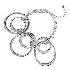Principles by Ben de Lisi - Designer silver oval link bracelet