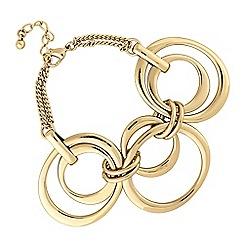 Principles by Ben de Lisi - Designer gold oval link bracelet