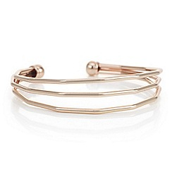 Principles by Ben de Lisi - Designer rose gold angular bangle