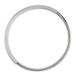 Principles by Ben de Lisi - Designer silver matt hoop bangle