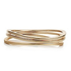 Principles by Ben de Lisi - Designer multi tonal gold bangle set