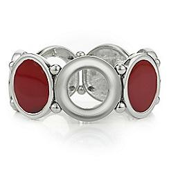 Principles by Ben de Lisi - Designer red inlay circle bracelet