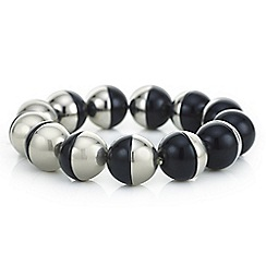 Principles by Ben de Lisi - Designer black and silver orb bracelet