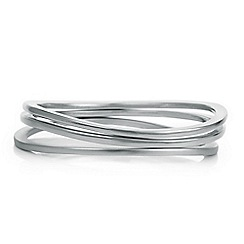 Principles by Ben de Lisi - Designer multi tonal silver bangle set