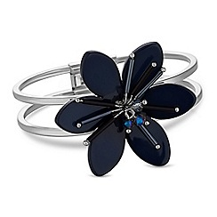 Principles by Ben de Lisi - Designer blue crystal flower bangle