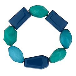 Principles by Ben de Lisi - Blue tonal beaded bracelet