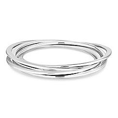 Principles by Ben de Lisi - Designer silver bangle set