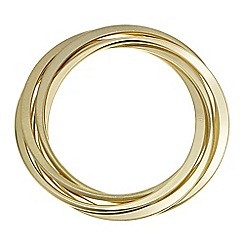 Principles by Ben de Lisi - Designer gold bangle set