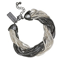 Principles by Ben de Lisi - Designer multi tone twisted chain bracelet