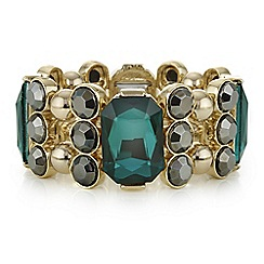 Principles by Ben de Lisi - Designer green facet crystal bracelet