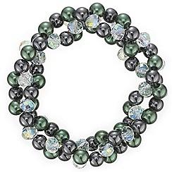 Principles by Ben de Lisi - Designer green facet bead bracelet