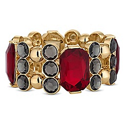 Principles by Ben de Lisi - Designer red facet crystal bracelet