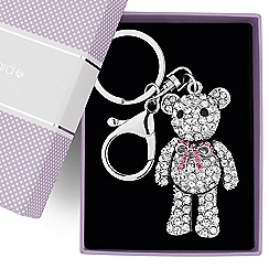 Jon Richard - Crystal embellished moveable teddy keyring