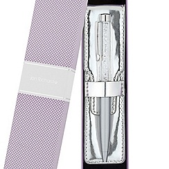 Jon Richard - Crystal encased silver pen and pouch set
