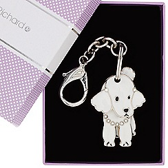 Jon Richard - Poodle three piece movable keyring