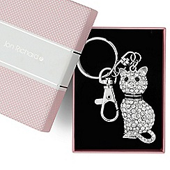Jon Richard - Crystal embellished movable cat keyring