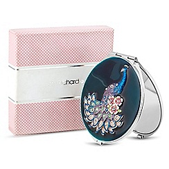 Jon Richard - Peacock teal enamel compact mirror