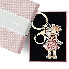 Jon Richard - Crystal embellished girl teddy keyring