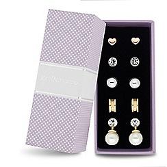 Jon Richard - Set of five crystal pearl earring pack