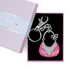 Jon Richard - Pink handbag crystal keyring