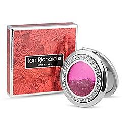 Jon Richard - Magenta crystal shaker compact mirror