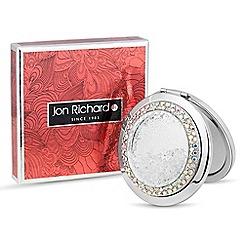 Jon Richard - Silver crystal shaker compact mirror