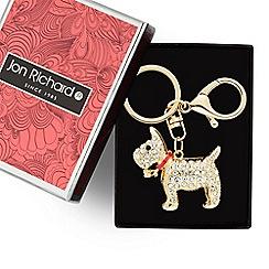 Jon Richard - Gold crystal scotty dog keyring