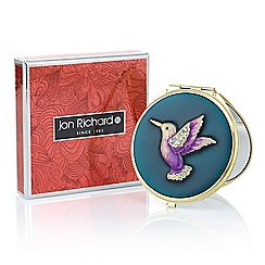 Jon Richard - Teal hummingbird compact mirror