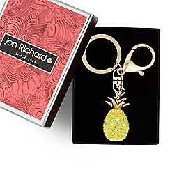 Jon Richard - Green crystal pineapple keyring