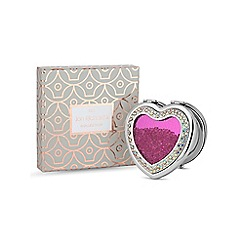 Jon Richard - Pink crystal heart shaker compact mirror