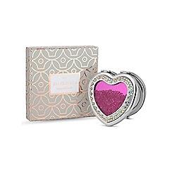 Jon Richard - Pink crystal heart shaker compact mirror