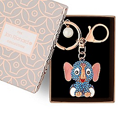 Jon Richard - Crystal elephant keyring