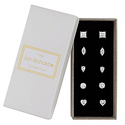 Jon Richard - Silver crystal multi cut stud earring set