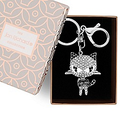 Jon Richard - Monochrome cat keyring