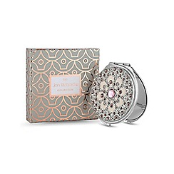Jon Richard - Pink crystal embellished compact mirror