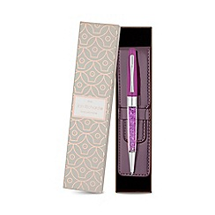 Jon Richard - Purple crystal pen and pouch set
