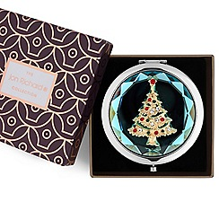 Jon Richard - Crystal christmas tree compact mirror