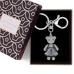 Jon Richard - Crystal teddy keyring